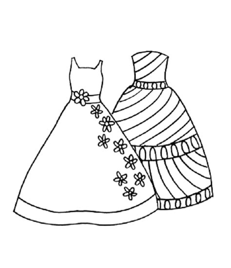 Coloring Page In Dress by Fashion Tips Dresses Coloring Pages