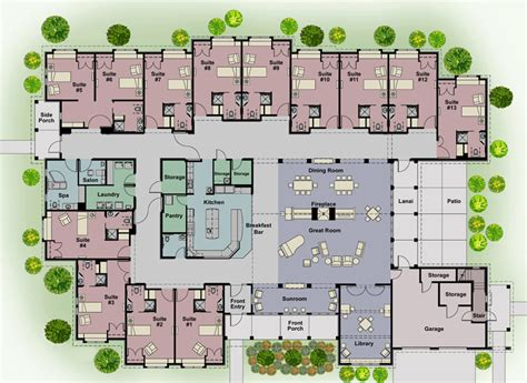 Nursing Home Layout Design Cottages Floor Plans Hillcrest Health Services
