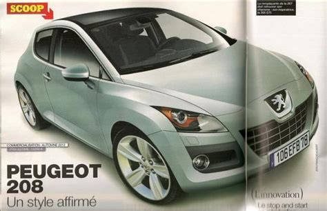 new peugeot 209 next generation peugeot 208 very early rendering