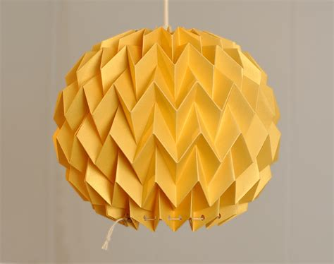 Folded Paper L Shade - origami paper l shade gold yellow by fiberstore
