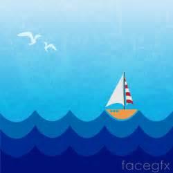 cartoon nautical sailing background vector free download