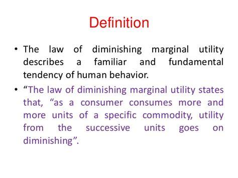 law of diminishing marginal utility marginal utility essay