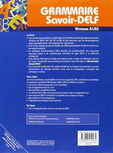 grammaire savoir delf niveaux 8853012439 libro grammaire savoir delf niveaux a1 b2 di j gauthier