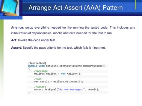 Aaa Pattern Unit Test | unit testing an introduction