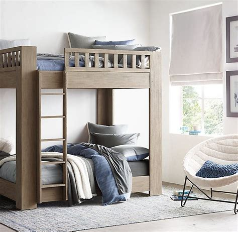 bunk bed hardware callum bunk bed by restoration hardware in sandwashed grey