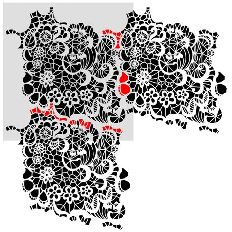 lace pattern wall art lace with blossom wall stencil reusable pattern for wall
