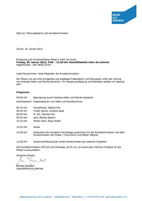 Muster Einladung Meeting einladung meeting muster biblesuite co