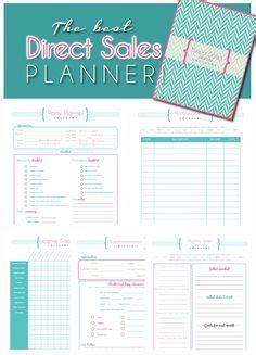 printable mary kay receipt direct sales planner home business planner blank
