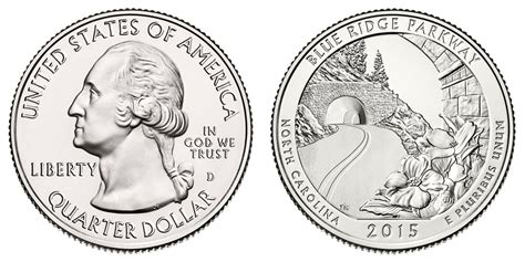 blue and the quarters 2015 d blue ridge parkway quarters value and prices
