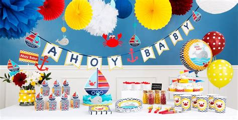 Party City Nautical Theme - ahoy nautical baby shower party supplies party city