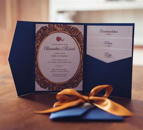 Themed Pocket Wedding Invitations