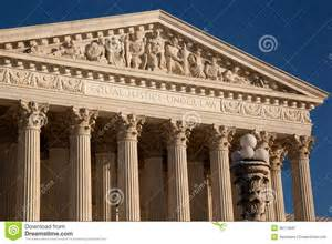 Greco Roman Architecture Us Supreme Court Closeup Of Details Royalty Free Stock