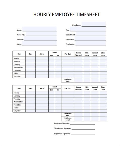 hourly time card template 22 time sheet templates sle templates