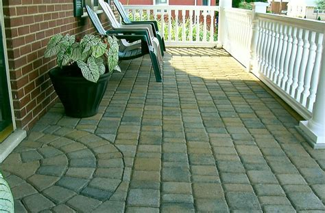 Front Patio Pavers J C Pryor Hardscaping Deco Wall Hanover Pa