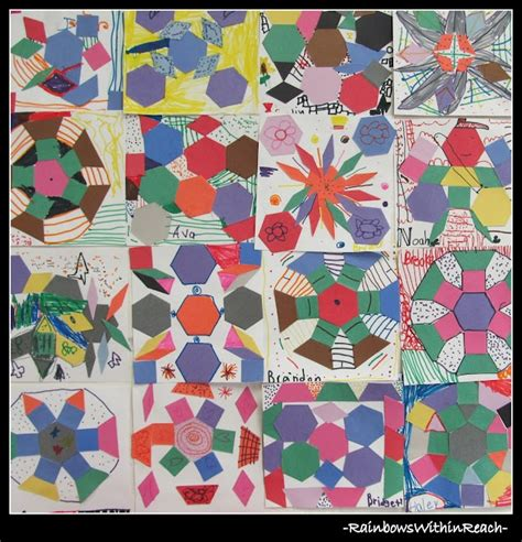 quilt pattern art lessons 17 best images about pattern blocks 六形六色 on pinterest