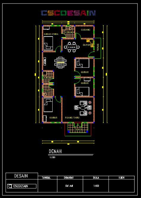 desain rumah autocad denah new desain rumah menggunakan autocad 2010