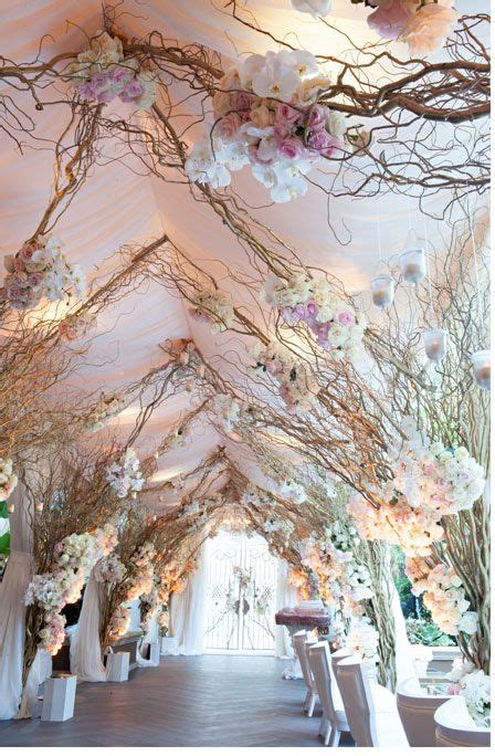 wedding aisle branches wedding aisle decorations whimsical branches blooms