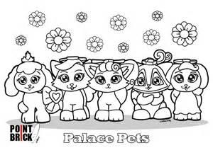 disegni da colorare lego disney princess palace pets