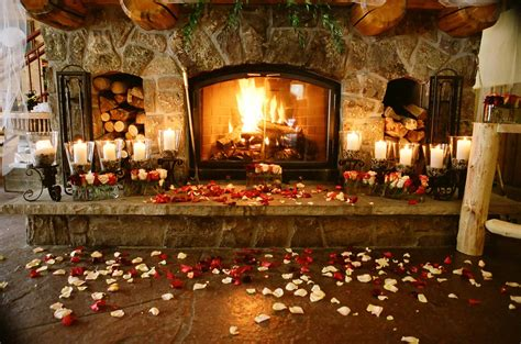 Wedding Venues With Fireplaces by Mountain Winter Weddings Basin Lodge