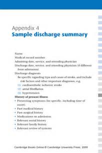 Discharge Summary Template Surgery by Appendix 4 Sle Discharge Summary