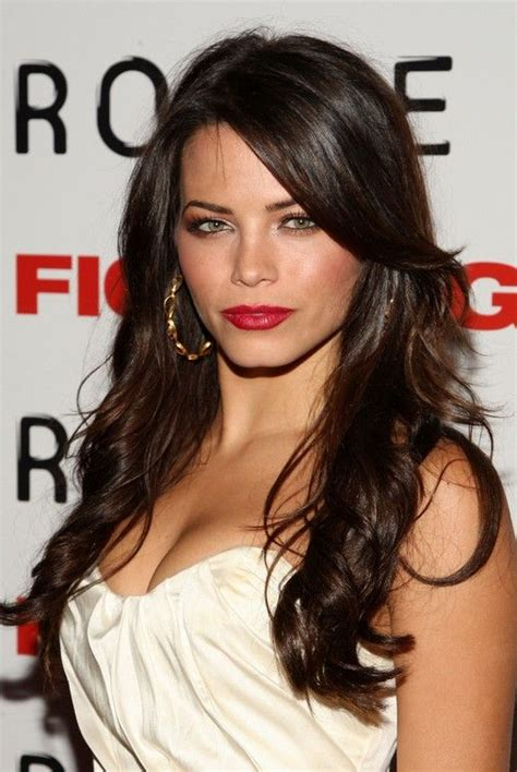brunette hairstyles with bangs 2014 long brown wavy hairstyle with bangs 2014 jenna dewan s