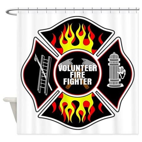 firefighter curtains volunteer firefighter shower curtain by theinternetmall