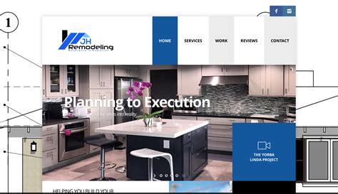 home remodeling website design jh remodeling website design creative gyeenius website