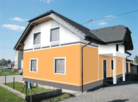 fassadenfarbe haus fassadengestaltung farbgestaltung architekturfarbe