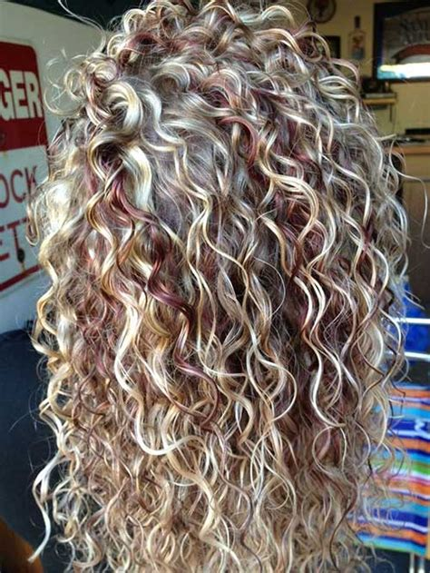 curly hairstyles blonde highlights 34 new curly perms for hair hairstyles haircuts 2016