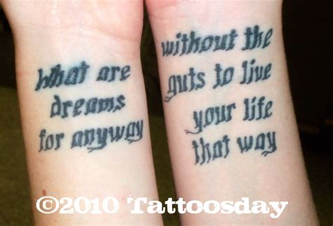 song lyric tattoos song lyrics for tattoos