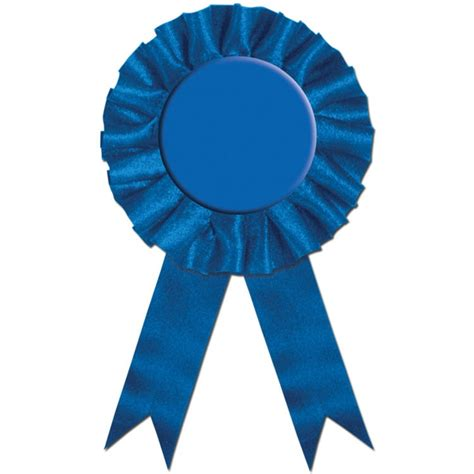 blue awards blue rosette award ribbon partycheap