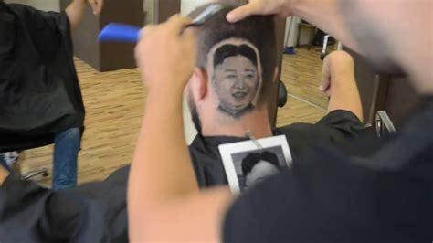 tattoo removal korea barber creates incredible hair tattoo of north korea