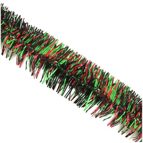 trim a home 174 21 red and green christmas garland