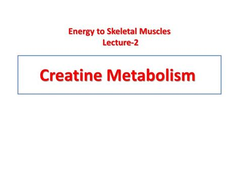 creatine metabolism ppt creatine metabolism powerpoint presentation id 3741675
