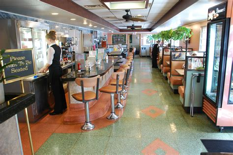 Diner Interior by Last Cup Of Coffee At The Newton Diner Kevin