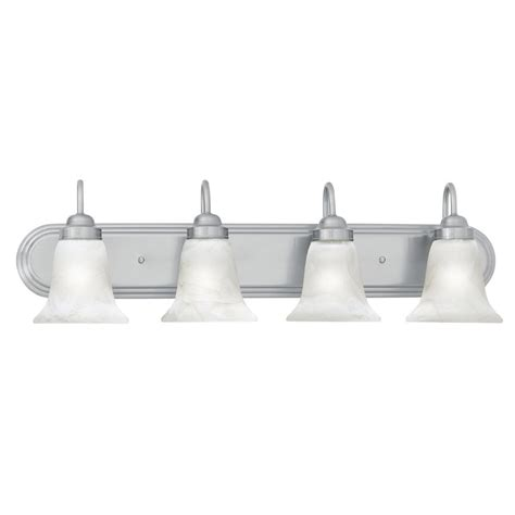 Bathroom Vanity Lighting Brushed Nickel Shop Lighting 4 Light Homestead Brushed Nickel Bathroom Vanity Light At Lowes