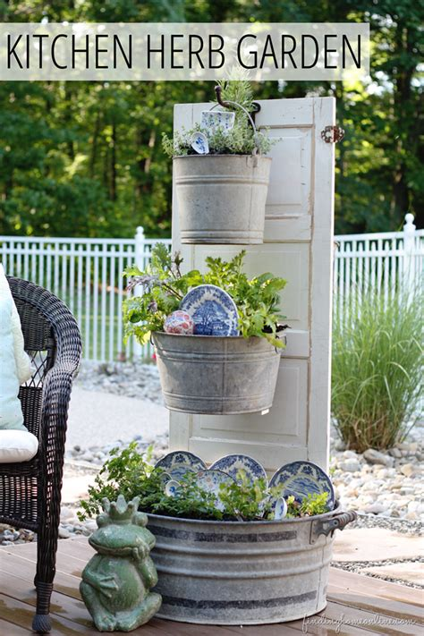 diy backyard kitchen herb garden finding home farms