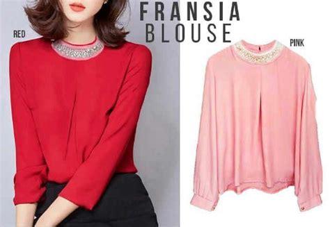 Blouse Jonggrang Atasan Baju Wanita baju atasan wanita fransia blouse model busana kerja