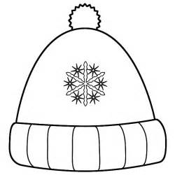 Winter Hat With Snowflakes  Coloring Page Clothing sketch template