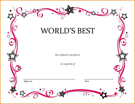 blank award certificate template blank award certificate templates 28 images formal