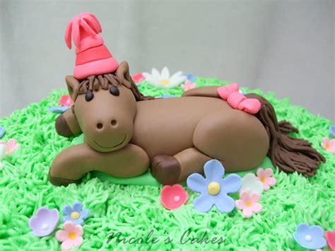 Pony Birthday Cake confections cakes creations pretty pony cake