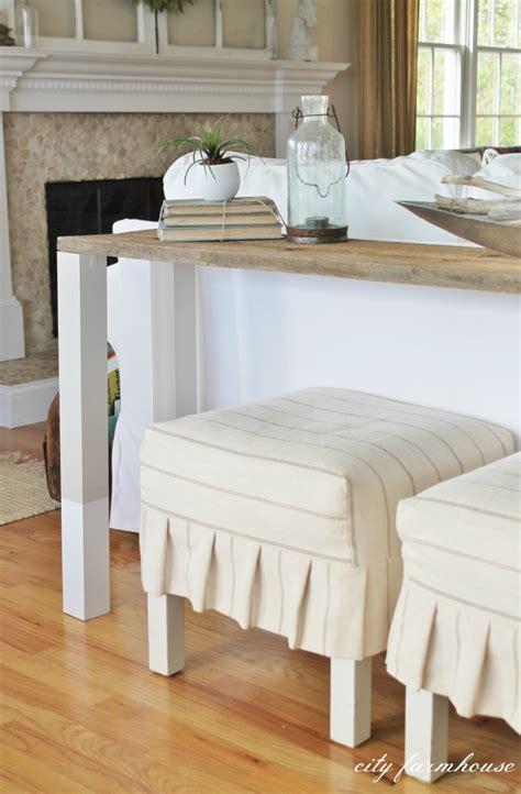 rustic sofa tables diy the easiest diy reclaimed wood sofa table city farmhouse