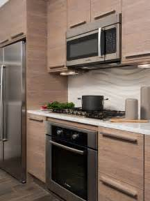 Small trendy galley kitchen photo in dc metro with flat panel cabinets