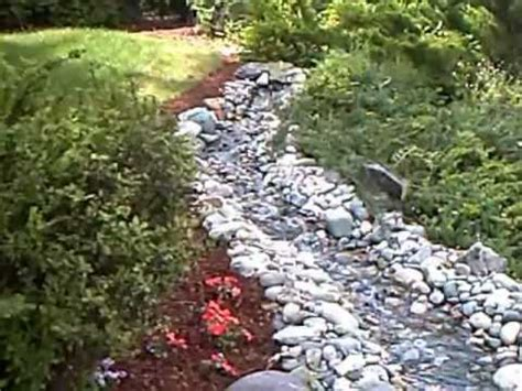 how to build a backyard stream how to build a garden stream youtube