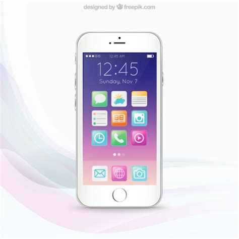 free mobile phone colorful mobile phone screen vector free