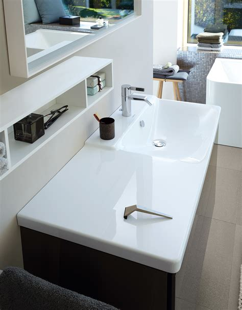 Duravit p3 comforts 850mm bowl on right asymmetric basin 233485