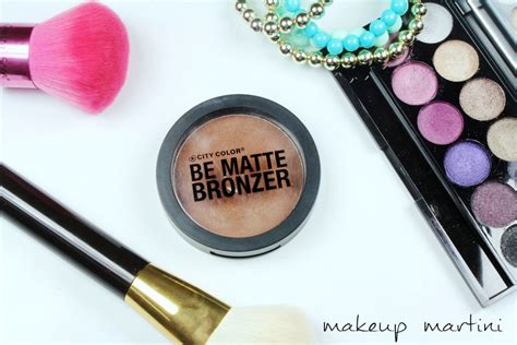 city color cosmetics review city color be matte bronzer review dupe swatch price