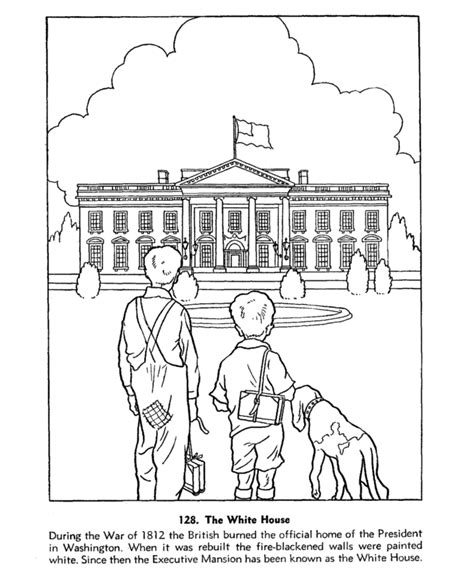 usa printables us presidents coloring pages the white
