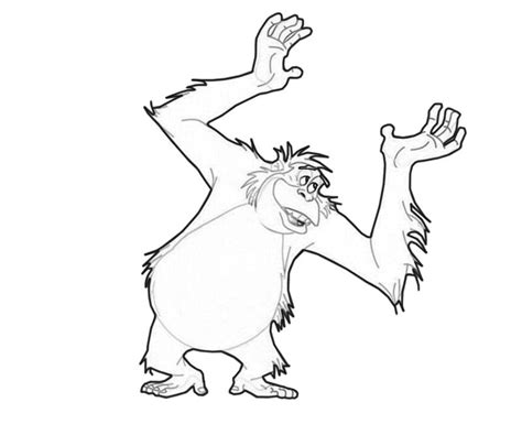 Jungle Book Coloring Pages King Louie | king louie dance lean printing