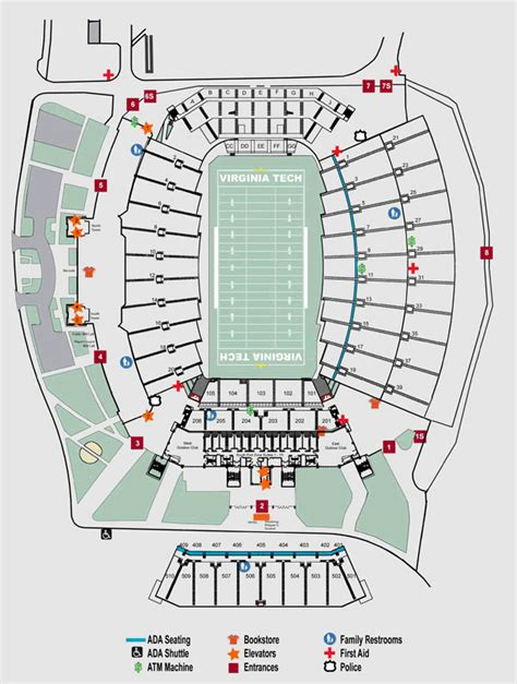 tech stadium seating capacity 2 virginia tech hokies 2011 season football tickets ebay